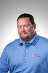 Shakley Mechanical Inc. sales manager Andy Hartley