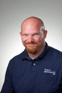 Shakley Mechanical Inc. technician Eric Snyder