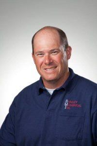 Shakley Mechanical Inc. technician Ryan Sheppard